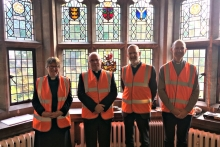 Choral Evensong goes neon for Bristol charity Unseen
