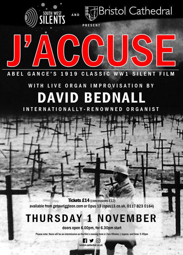 Cinema in the Cathedral: J'Accuse (1919) - Bristol Cathedral